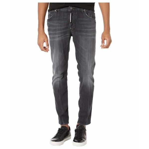 ディースクエアード メンズ デニムパンツ ボトムス New Black Wash Skater Jeans in Black Black