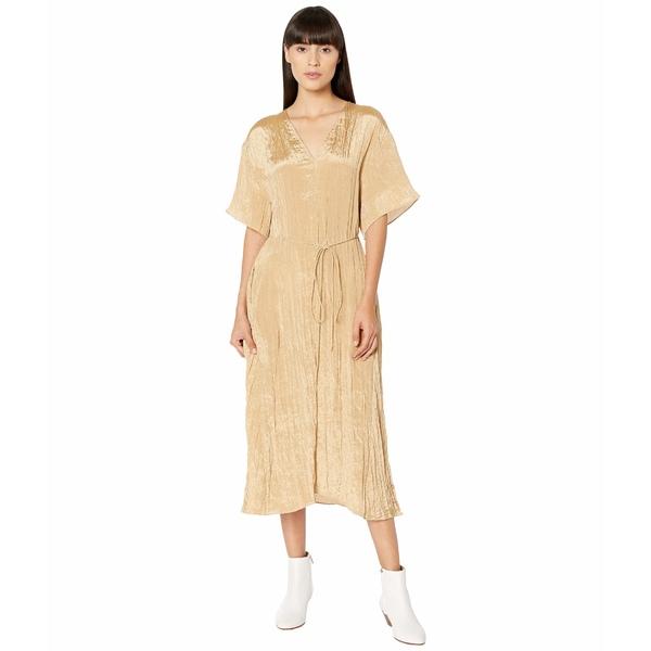 ヴィンス レディース ワンピース トップス Textured V-Neck Dress Sun Khaki