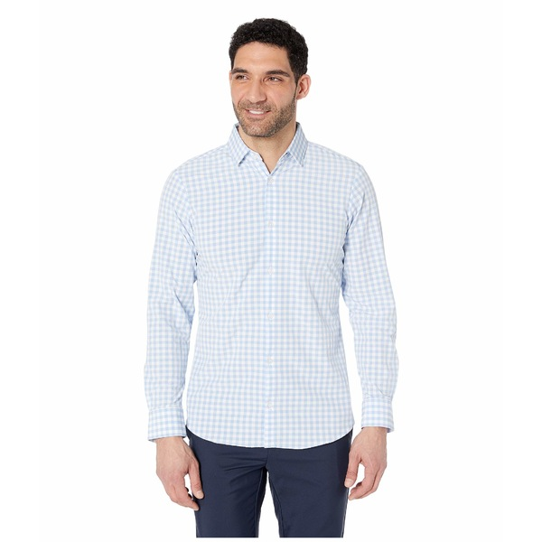 ミゼンプラスメイン メンズ シャツ トップス Leeward Hampton Performance Shirt Light Blue