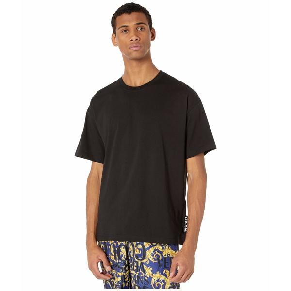 ベルサーチ メンズ シャツ トップス Macro Logo Over Fit T-Shirt Black