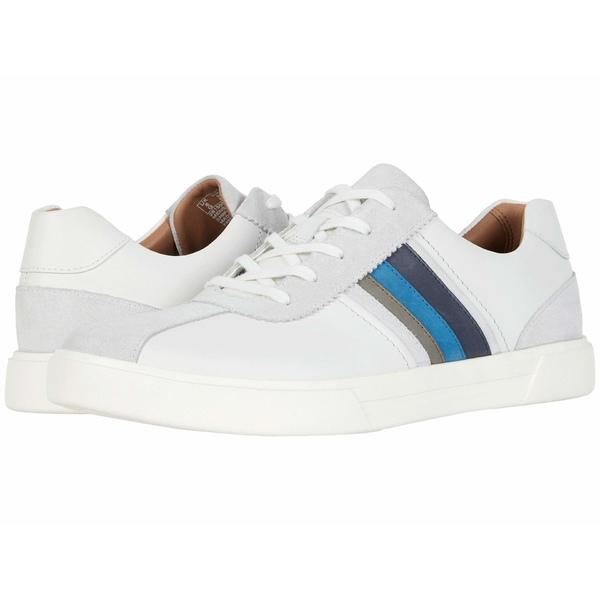 クラークス メンズ スニーカー シューズ Un Costa Band White/Blue Leather/Suede Combi