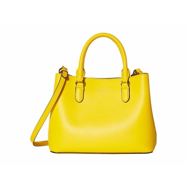 ラルフローレン レディース ハンドバッグ バッグ Dryden Super Smooth Leather Marcy II Satchel Mini Racing Yellow/Lauren Tan