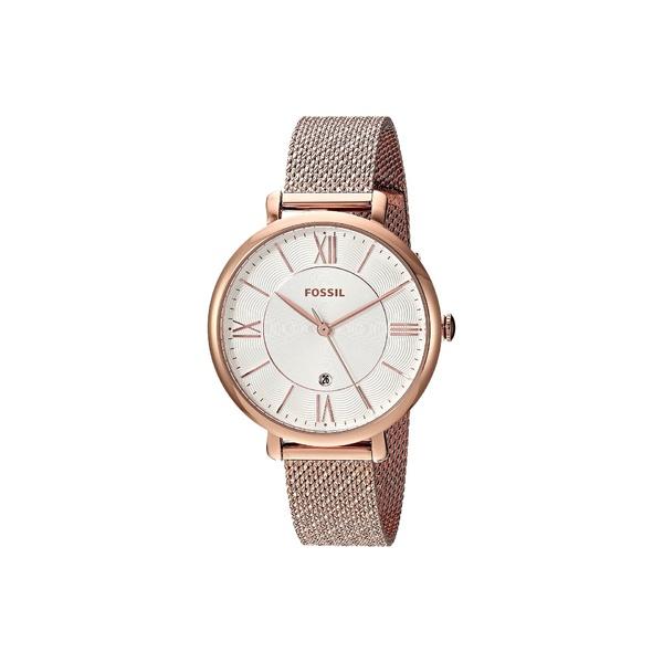フォッシル レディース 腕時計 アクセサリー Jacqueline Three-Hand Stainless Steel Watch ES4352 Rose Gold Stainless Steel Mesh