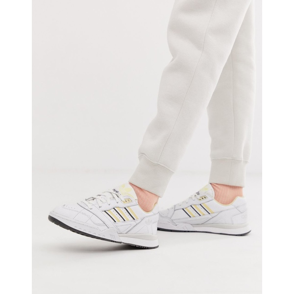 アディダスオリジナルス レディース スニーカー シューズ adidas Originals white and yellow A-R sneakers White