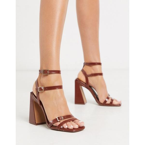 エイソス レディース サンダル シューズ ASOS DESIGN Nitro block heeled sandals in brown Brown