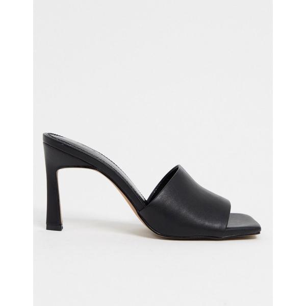 エイソス レディース サンダル シューズ ASOS DESIGN Hattie mid-heeled mule sandals in black Black