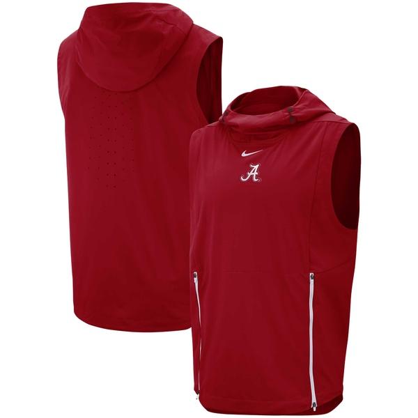 ナイキ メンズ ジャケット&ブルゾン アウター Alabama Crimson Tide Nike Fly Rush Performance Vest Crimson