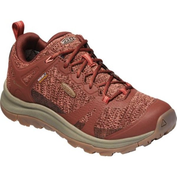 キーン レディース ブーツ&レインブーツ シューズ Terradora II Waterproof Trail Shoe Cherry Mahogany/Coral