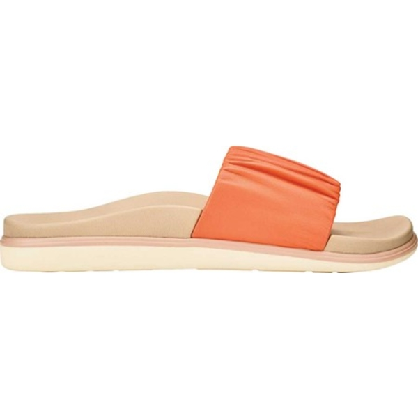 オルカイ レディース サンダル シューズ Pihapiha Slide Fusion Coral/Off White Nappa Leather