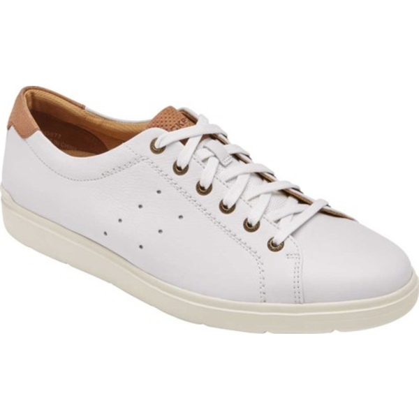 ロックポート メンズ スニーカー シューズ Total Motion Lite Lace to Toe Sneaker White Leather/Textile