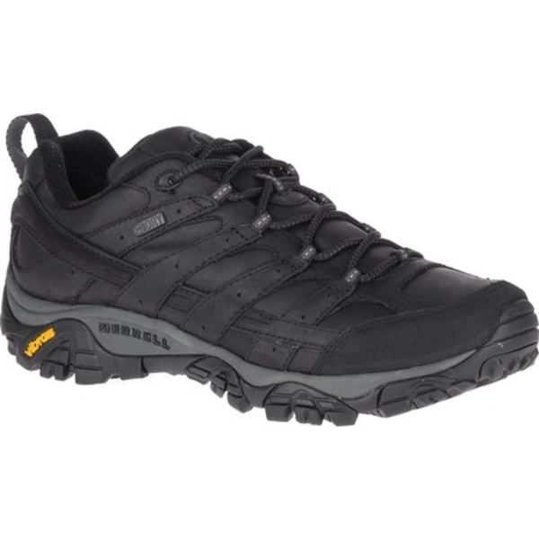 メレル メンズ ブーツ&レインブーツ シューズ Moab 2 Prime Waterproof Hiking Shoe Black Full Grain Leather