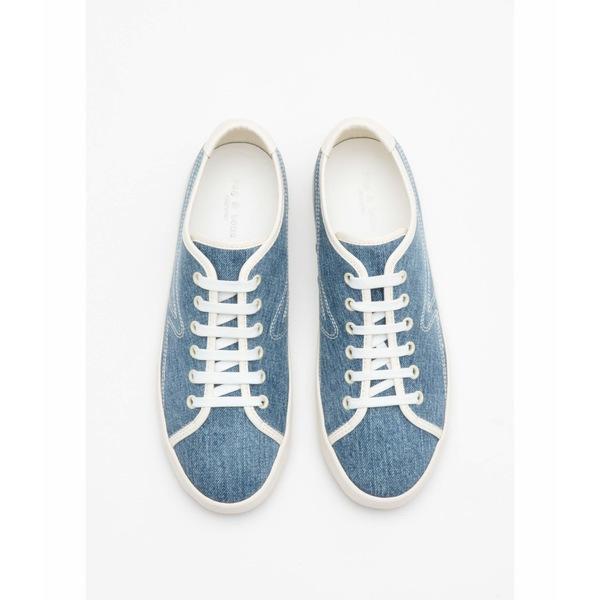 珍しい ラグアンドボーン レディース スニーカー シューズ Court Sneaker Denim Blue, ENDLESS TRIP 72a4ed31