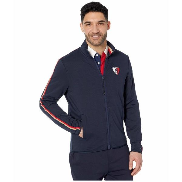 本物品質の トミーヒルフィガー メンズ コート アウター Sweatshirt with Magnetic Zipper and Mock Neck Sky Captain, 十勝たちばな 80080bef