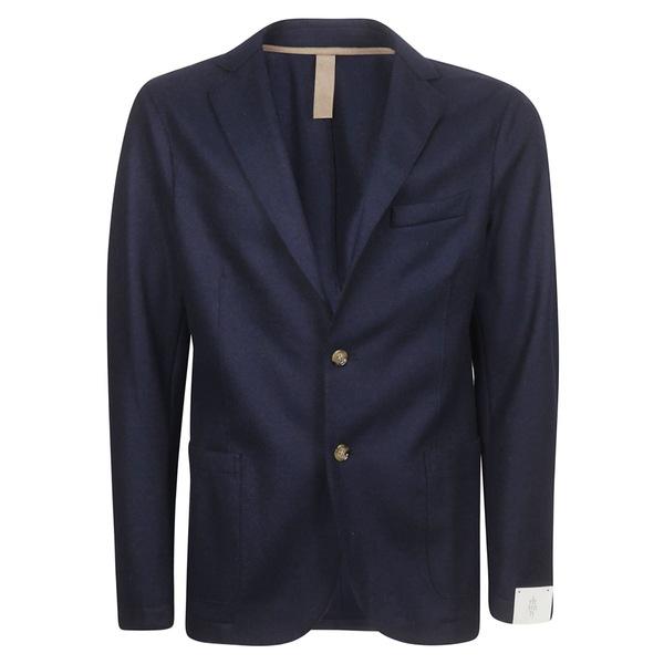 イレブンティ メンズ ジャケット&ブルゾン アウター Eleventy Single Breasted Blazer Blue