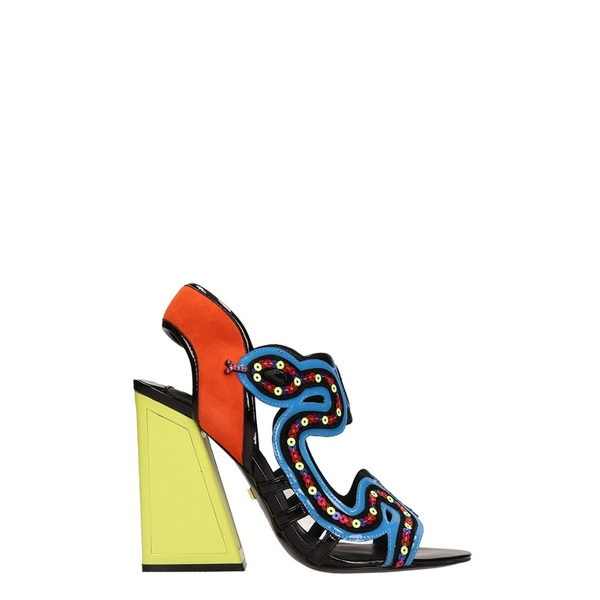 カットマコニー レディース サンダル シューズ Kat Maconie Multicolor Leather Medusa Sandals multicolor
