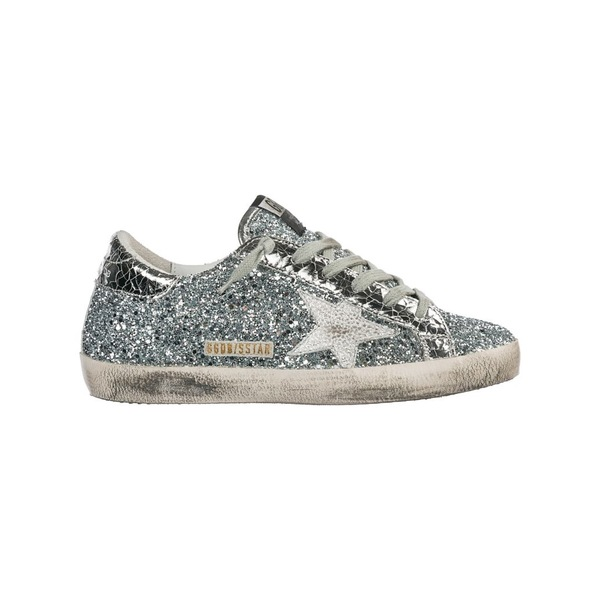 ゴールデングース レディース スニーカー シューズ Golden Goose Shoes Leather Trainers Sneakers Superstar SilverglitterIronstar