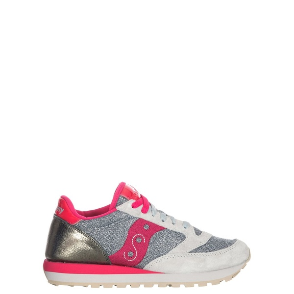 サッカニー レディース スニーカー シューズ Saucony Jazz Sparkle Silver/red Sneakers Silverred