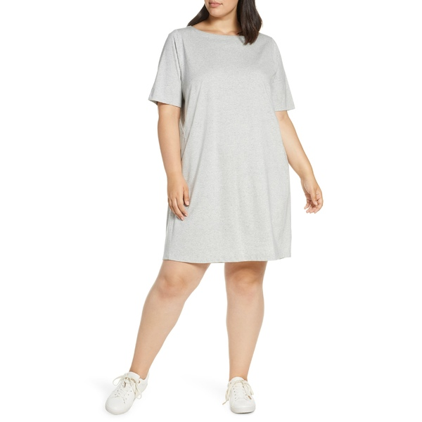 エイリーンフィッシャー レディース ワンピース Cotton トップス Eileen Fisher Organic Cotton Lyocell & Organic Refibra Lyocell T-Shirt Dress (Plus Size) Pearl, エプロン専門店JOKER:661819ba --- officewill.xsrv.jp