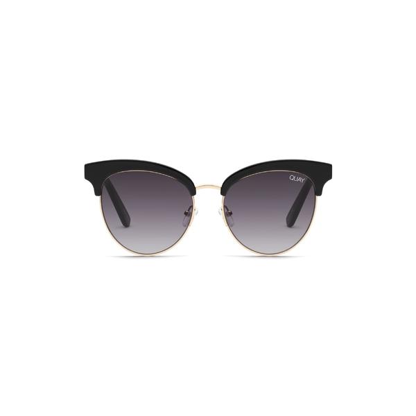 クアイオーストラリア レディース サングラス&アイウェア アクセサリー Quay Australia Cherry 56mm Sunglasses Black / Smoke