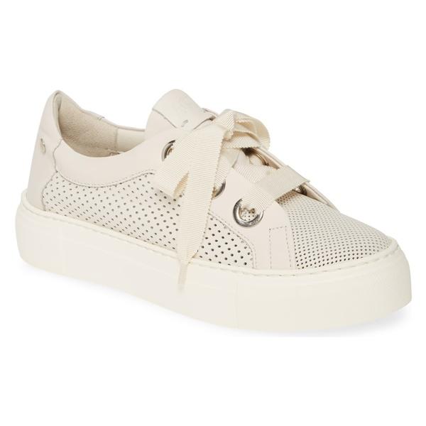 エージーエル レディース スニーカー シューズ AGL Perforated Platform Sneaker (Women) White Leather