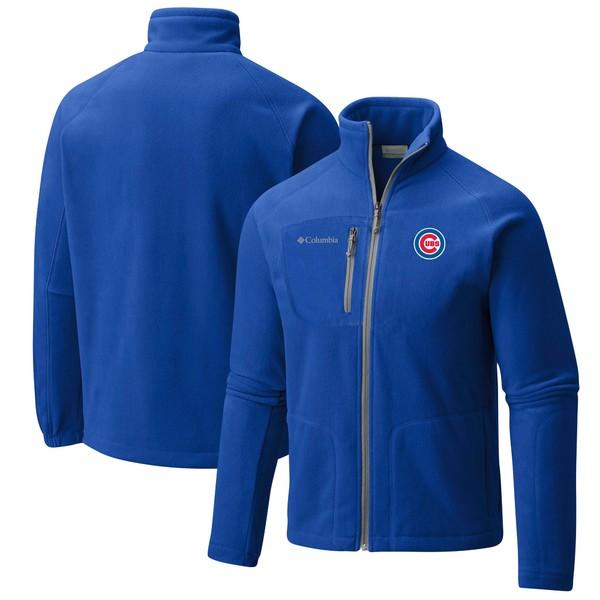 コロンビア メンズ ジャケット&ブルゾン アウター Chicago Cubs Columbia Fast Trek II FullZip Fleece Jacket Royal