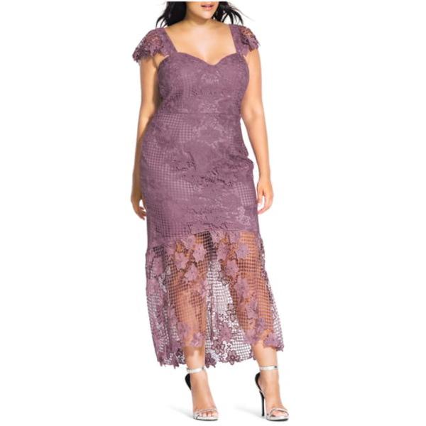 シティーシック レディース ワンピース トップス Leonie Lace Mermaid Dress Rose Water