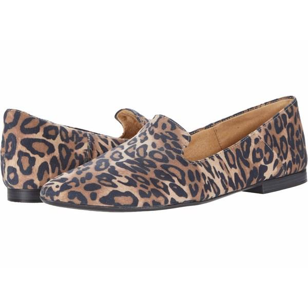 ナチュライザー レディース スリッポン・ローファー シューズ Lorna Dark Brown Cheetah Fabric