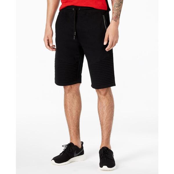 超人気 アイエヌシーインターナショナルコンセプト メンズ カジュアルパンツ ボトムス INC Men&39;s Remix Knit Shorts, Created for Macy&39;s Deep Black, 宇治style 2724b808