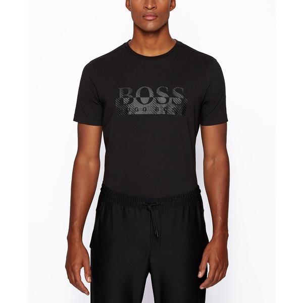 【値下げ】 ヒューゴボス メンズ Tシャツ トップス BOSS Men&39;s Tee Regular-Fit T-Shirt Black, 上宝村 8300abae