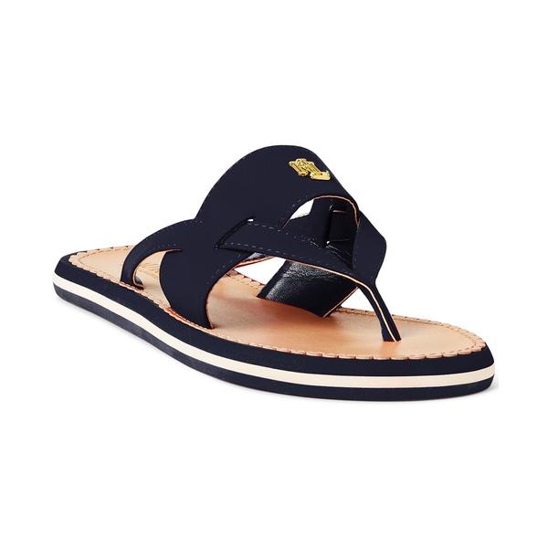【おしゃれ】 ラルフローレン レディース サンダル シューズ Rosalind Thong Sandals Lauren Navy, ミニマル 608410fc
