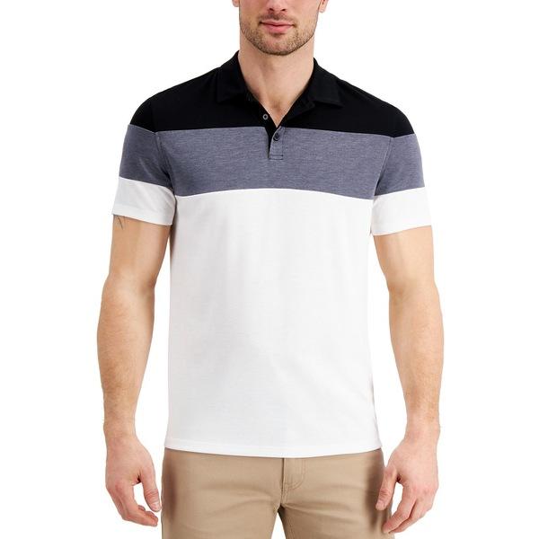 【超歓迎された】 アルファニ メンズ ポロシャツ トップス Men&39;s Alfatech Colorblocked Polo, Created for Macy&39;s Oxford Heather, witch 56f316ac