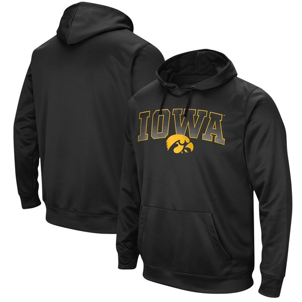 コロシアム メンズ パーカー・スウェットシャツ アウター Iowa Hawkeyes Colosseum Blackout 2.0 Performance Pullover Hoodie Black