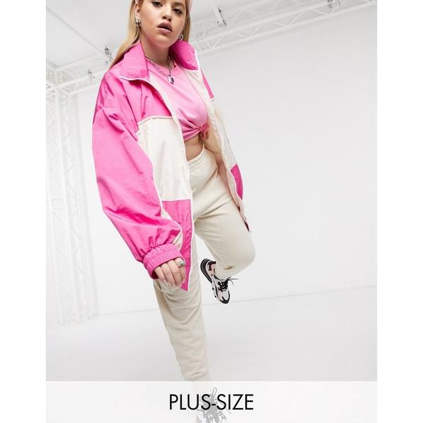 コリュージョン レディース ジャケット&ブルゾン アウター COLLUSION PLUS track jacket Pink
