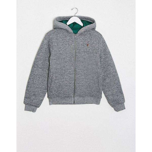 ジャック アンド ジョーンズ メンズ ジャケット&ブルゾン アウター Jack & Jones zip sweat jacket Gray melange