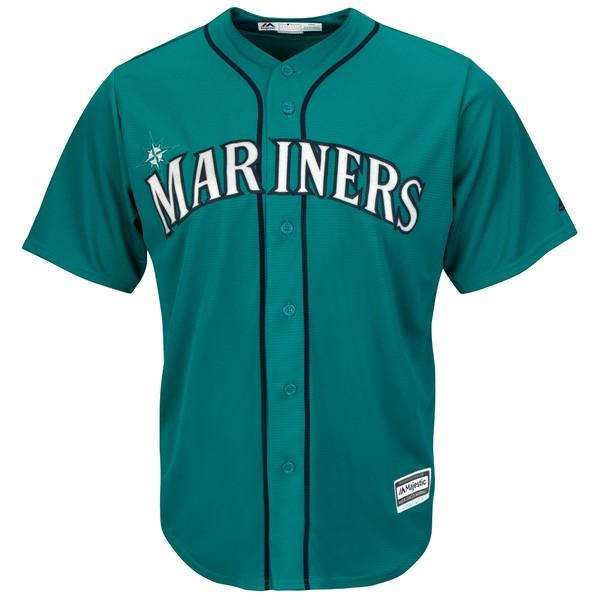 マジェスティック メンズ ユニフォーム トップス Seattle Mariners Majestic Official Cool Base Jersey Cream