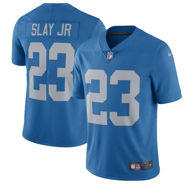 ナイキ メンズ ユニフォーム トップス Darius Slay Jr Detroit Lions Nike 2017 Throwback Vapor Untouchable Limited Player Jersey Blue