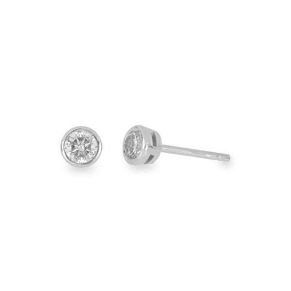 大人気 ボニー レヴィ レディース ピアス&イヤリング レディース アクセサリー 14K White Gold WHITE アクセサリー Bezel Set Diamond Stud Earrings - 0.25 ctw WHITE GOLD, インドカレーの店 アールティ:e1712348 --- cpps.dyndns.info