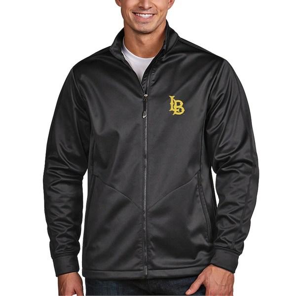 アンティグア メンズ ジャケット&ブルゾン アウター Long Beach State 49ers Antigua Golf Full-Zip Jacket Charcoal