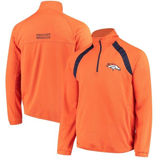 カールバンクス メンズ ジャケット&ブルゾン アウター Denver Broncos G-III Sports by Carl Banks High Impact Half-Zip Jacket Orange