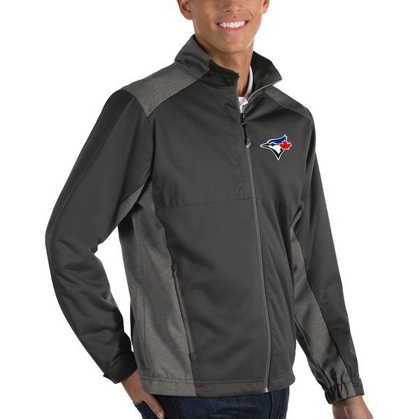 アンティグア メンズ ジャケット&ブルゾン アウター Toronto Blue Jays Antigua Revolve Full-Zip Jacket Charcoal