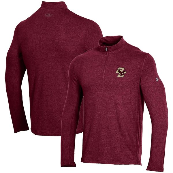 アンダーアーマー メンズ ジャケット&ブルゾン アウター Boston College Eagles Under Armour Performance Quarter-Zip Jacket Maroon