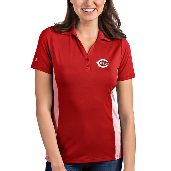 アンティグア レディース ポロシャツ トップス Cincinnati Reds Antigua Women's Venture Polo Red/White