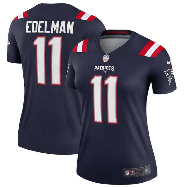ナイキ レディース シャツ トップス Julian Edelman New England Patriots Nike Women's Legend Jersey Navy