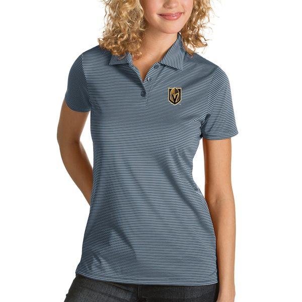 アンティグア レディース ポロシャツ トップス Vegas Golden Knights Antigua Women's Quest Desert Dry Polo Gray