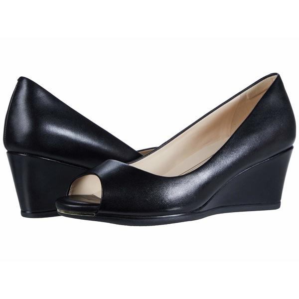 コールハーン レディース ヒール シューズ Grand Ambition Open Toe Wedge (55 mm) Black Leather
