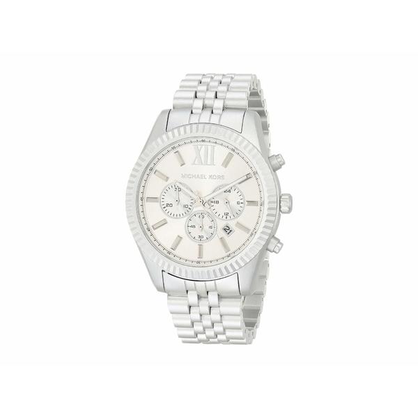 マイケルコース メンズ 腕時計 アクセサリー Lexington Chronograph Aluminum Watch Silver
