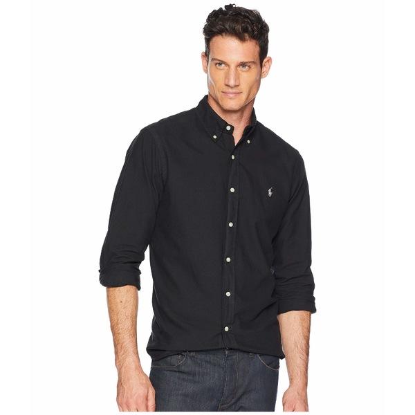 ラルフローレン メンズ シャツ トップス Classic Fit Garment Dyed Oxford Shirt Polo Black