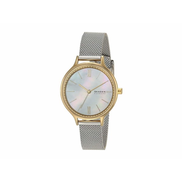 スカーゲン レディース 腕時計 アクセサリー Anita Three-Hand Watch SKW2866 Two-Tone Stainless Steel Mesh