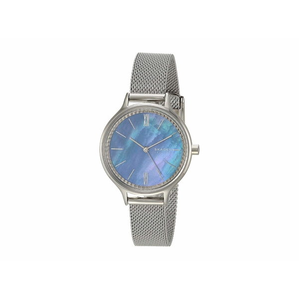 スカーゲン レディース 腕時計 アクセサリー Anita Three-Hand Watch SKW2862 Silver Stainless Steel Mesh