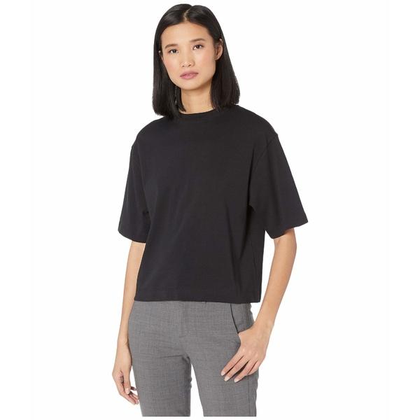 ヴィンス レディース シャツ トップス Wide Sleeve Crop T-Shirt Black